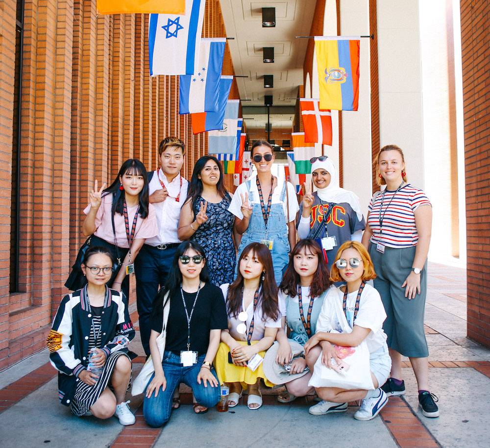 2018 SOTI students on USC's campus