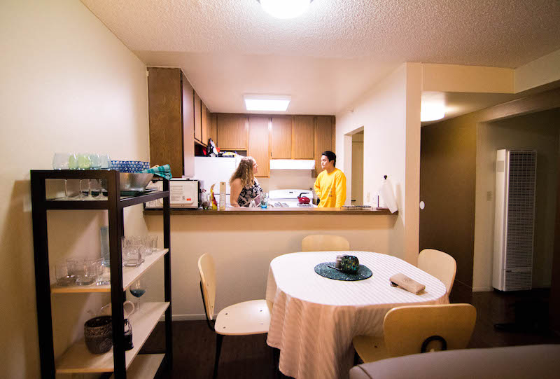 Living space and kitchen in OT House