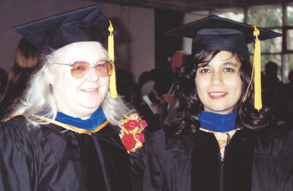 The first Occupational Science PhD graduate Sheama Krishnagiri (right) with her dissertation advisor Dr. Ruth Zemke (left).