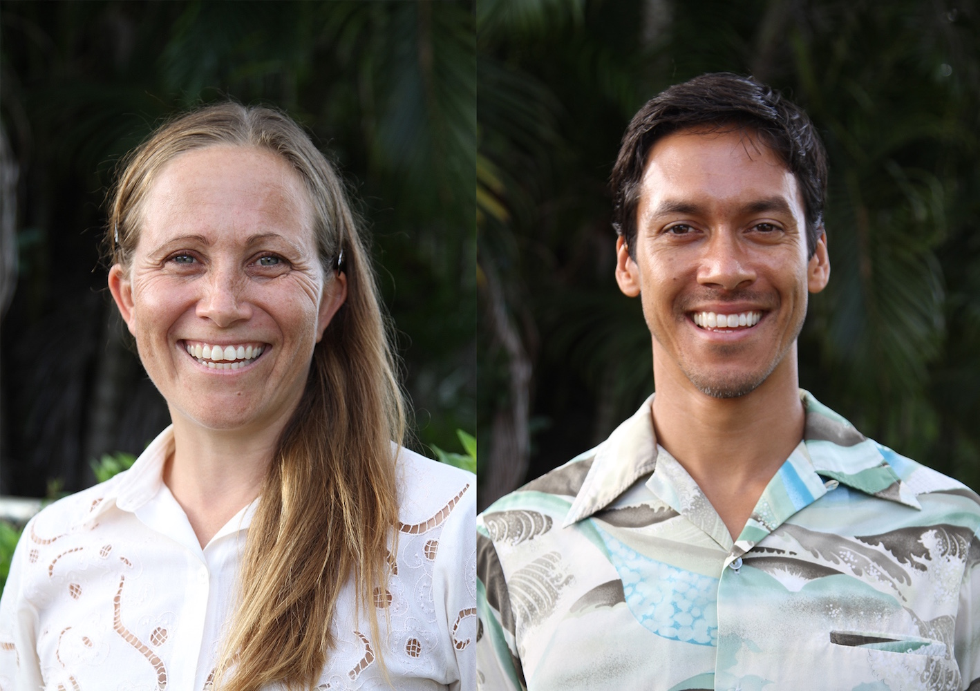 Catia Garell '01 (left) and Damian Sempio '01 (right). Photo by Ka'ai Nalua'i-Sempio