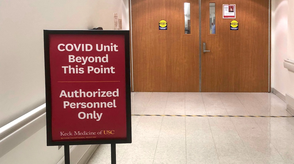 COVID Unit Beyond This Point