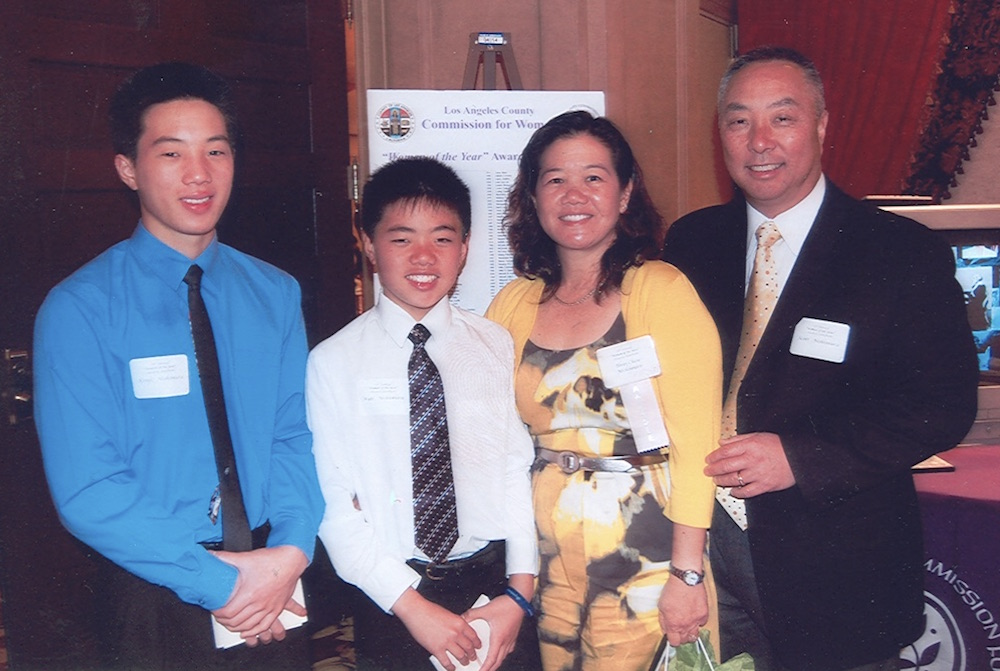 Terri Chew Nishimura and family at the 26th Annual Women of the Year Luncheon hosted at the downtown Los Angeles Millennium Biltmore Hotel