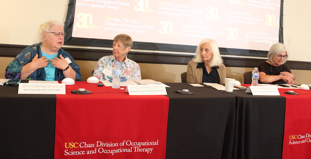 The 'Founders Panel' at the 2019 USC Chan Occupational Science Symposium
