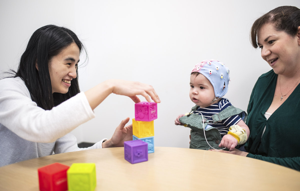 Claire Chen PhD '22 conducts research to understand the early risk signs of ASD