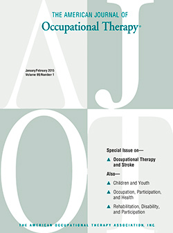 January 2015 American Journal of Occupational Therapy