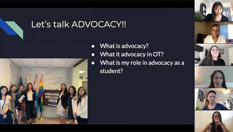 The CCC Advocacy Committee held a Let's Talk Advocacy information session on OT's role in advocacy and student involvement. (Photo courtesy of Jenna Freeman)