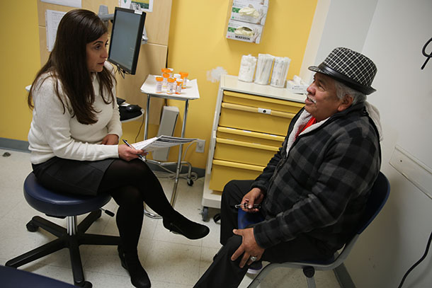 Health sciences faculty members see older adults in a special clinic at Eisner Health Center.