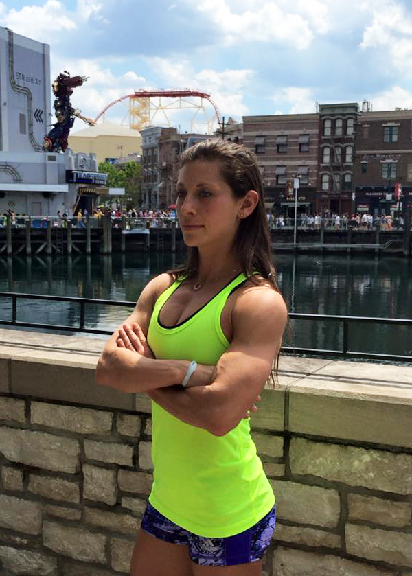 Alumna Karly Streisfeld '05 on the set of American Ninja Warrior qualifying at Universal Studios Orlando