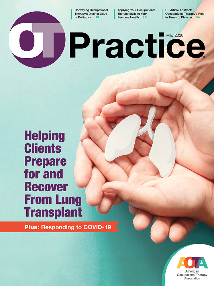 OT Practice Magazine May 2020 issue cover