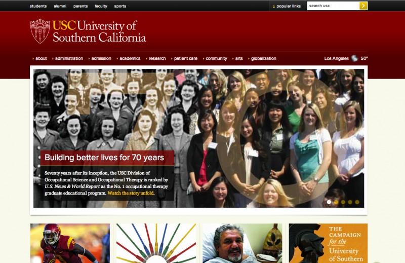 USC Homepage December 28 2012