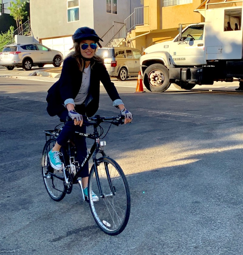 Camille Dieterle commutes by bike