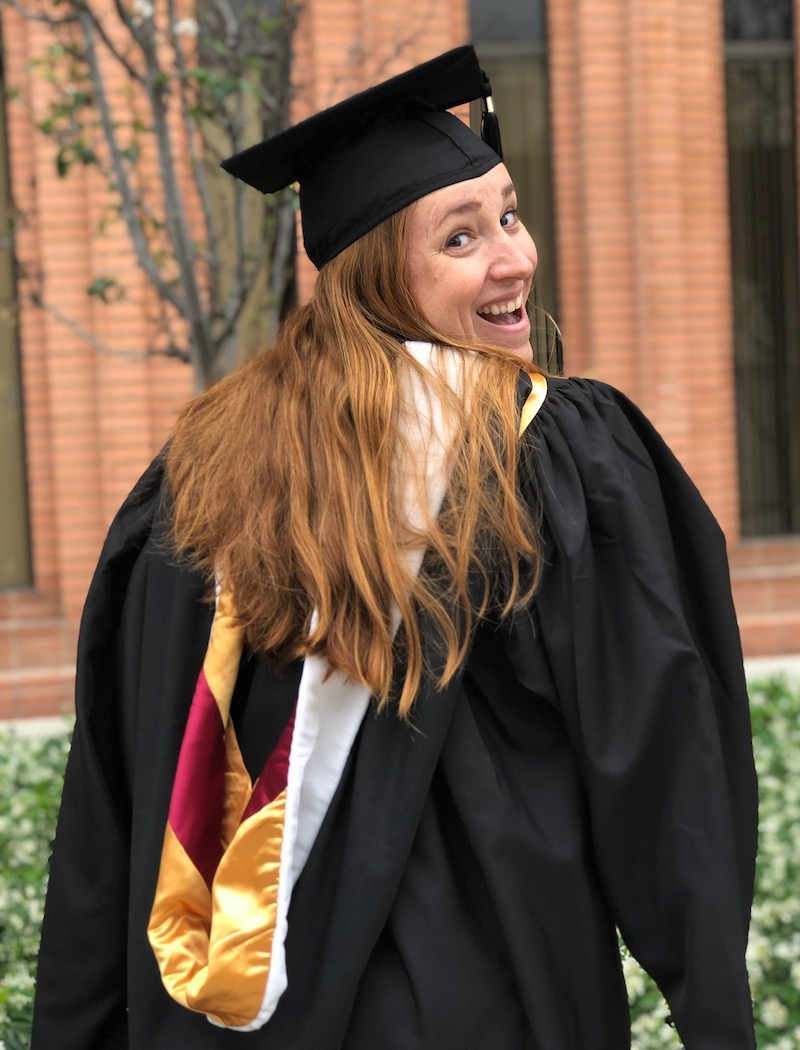 Katherine Crustinger graduated with her master's degree