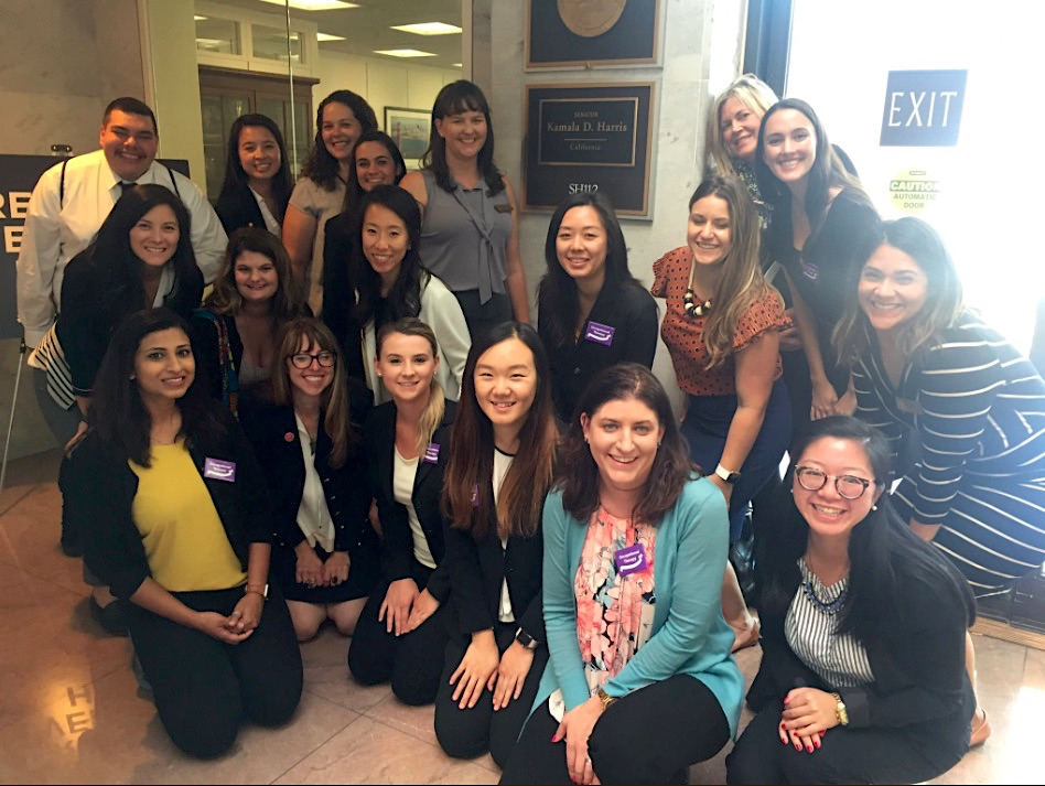 Velia with her USC peers at the 2018 AOTA Capitol Hill Day