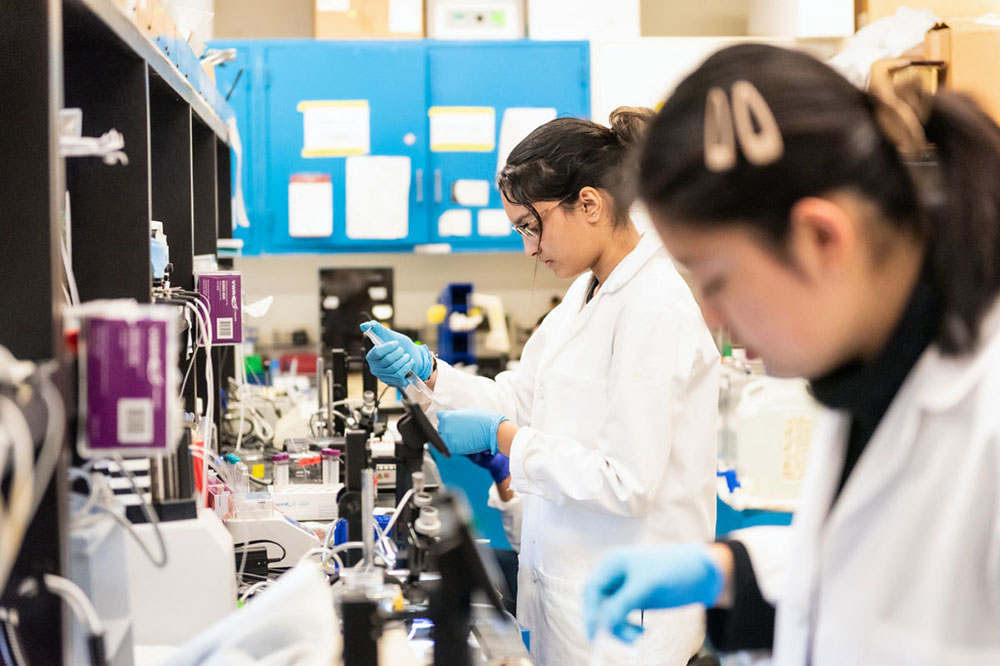 Photo of STAR program participant Nirali Patel working in science lab