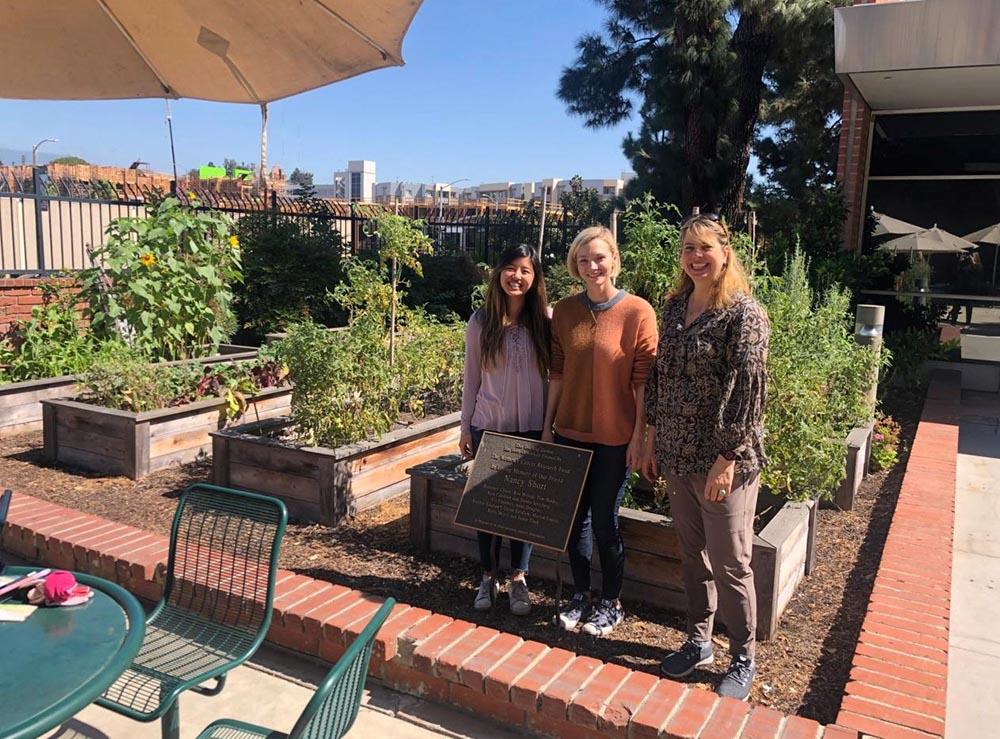 USC Chan students Katherine Tao, Riley McGuire and Maria Cristina Jiménez