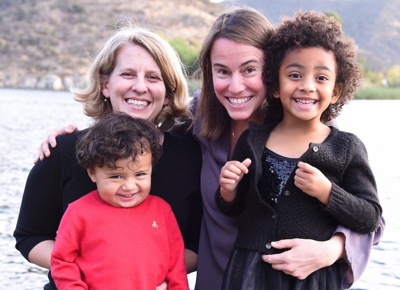 Assistant Clinical Professor Tessa Milman, second from right, and family. (Photo courtesy of Tessa Milman)
