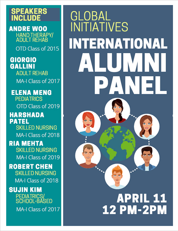 At the international alumni panel, USC Chan alumni share with current students about their experiences transitioning to employment in The United States.