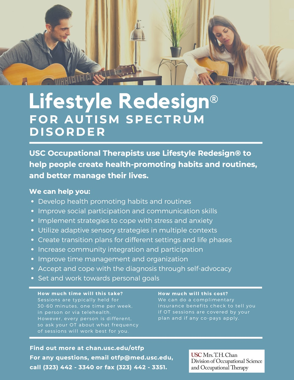 Lifestyle Redesign for Autism Spectrum Disorder