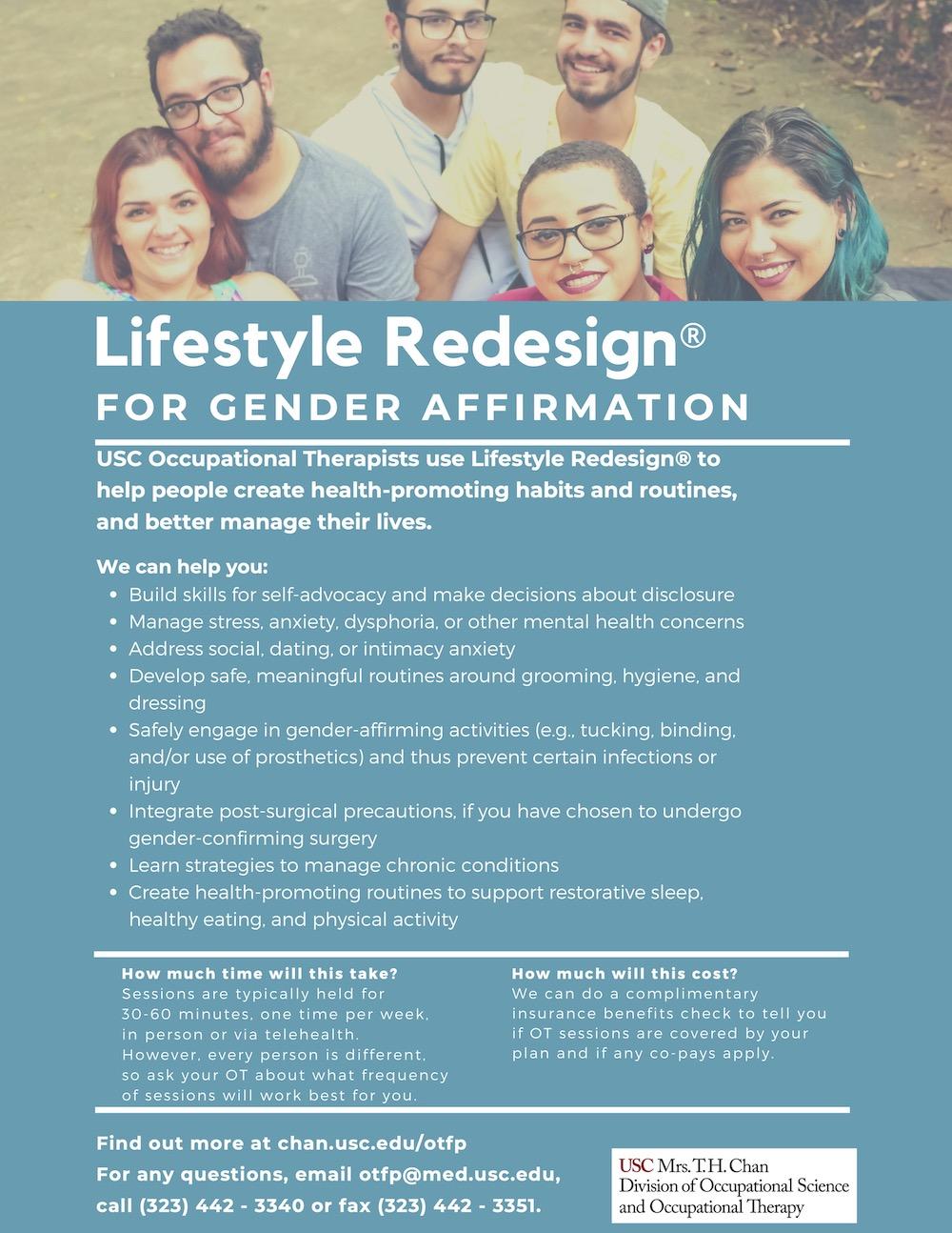 Lifestyle Redesign for Gender Affirmation