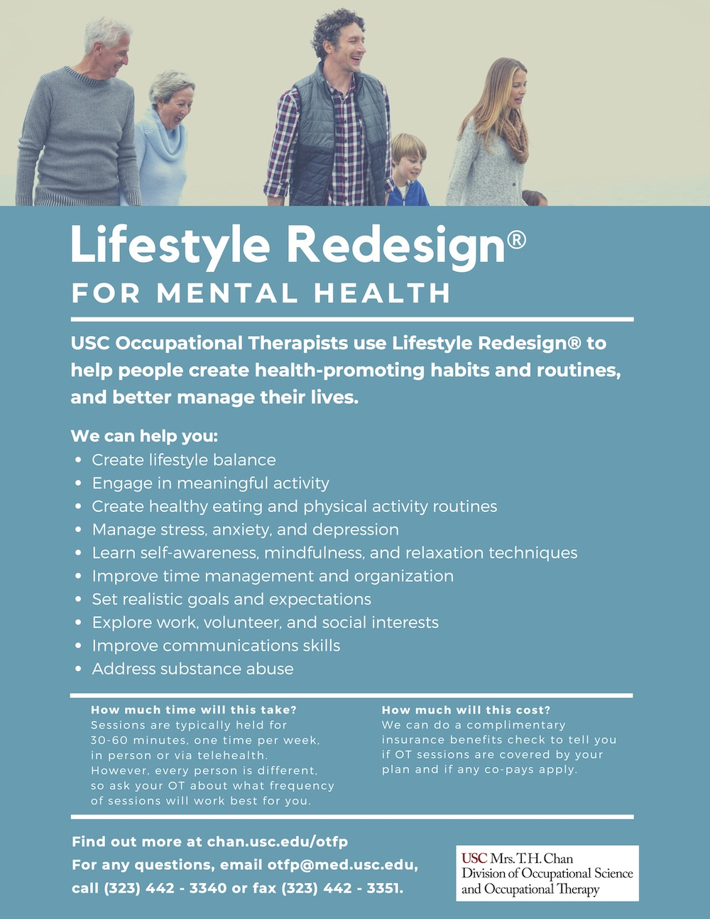 Lifestyle Redesign for Mental Health