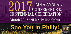AOTA 2017 Banner, See you in Philly!