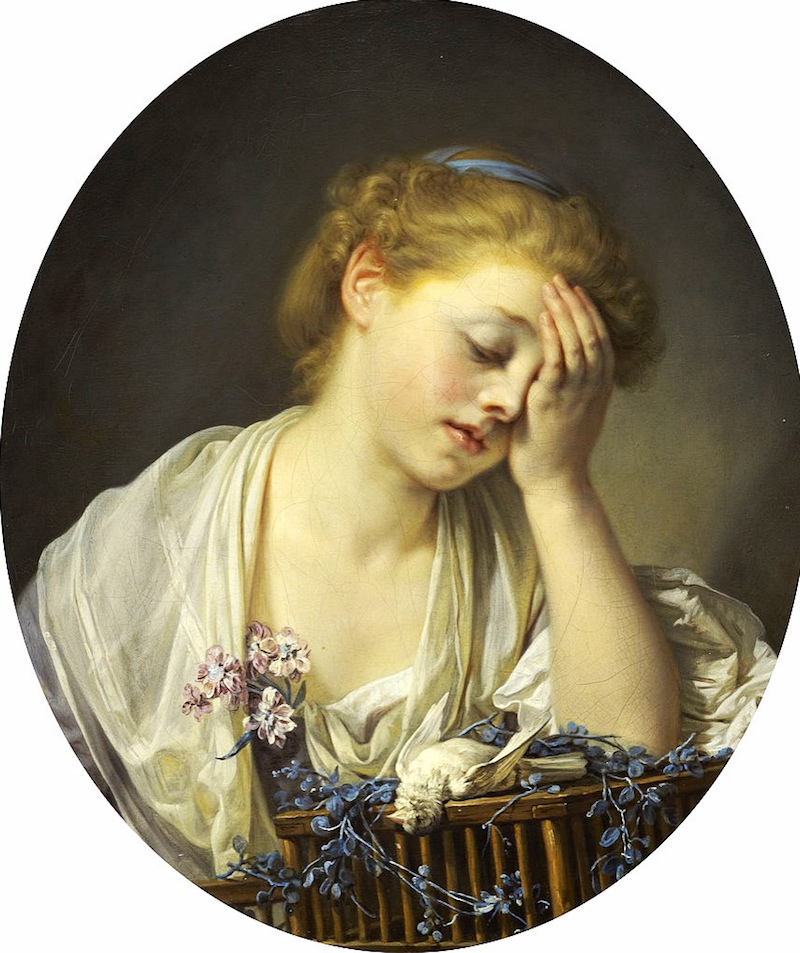 Greuze, J. (1765).A Girl with a Dead Canary [Painting]. Scottish National Gallery, Edinburgh, Scotland.