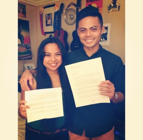 Acceptance Letter with Sister