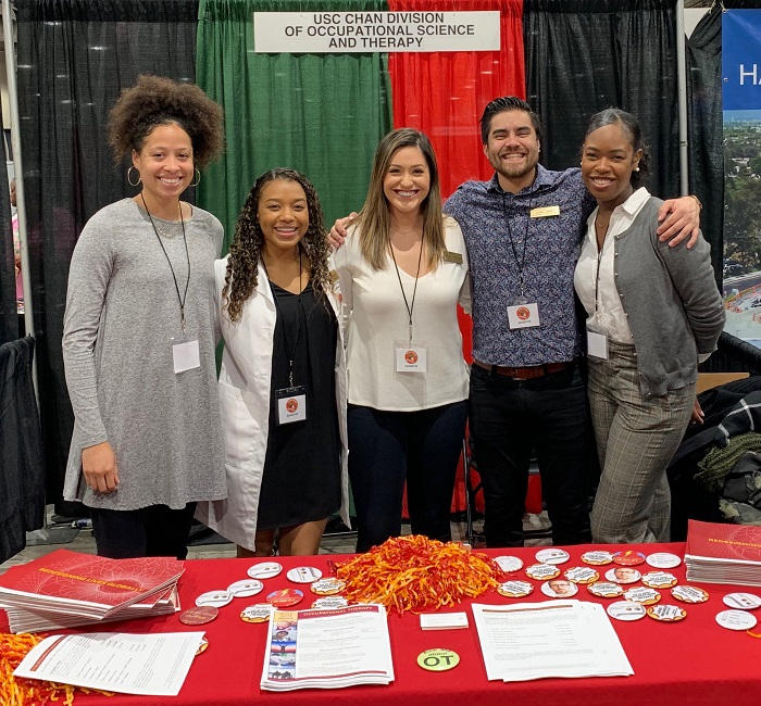 USC occupational therapists and occupational therapy student ambassadors at the Black College Expo Event at the Los Angeles Convention Center