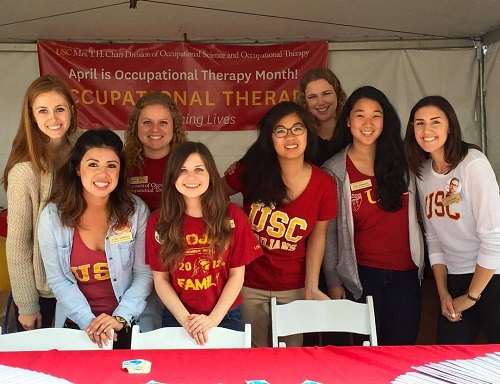 OT students host booth at Festival of Books