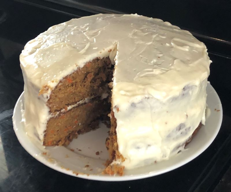 A double-layer carrot cake