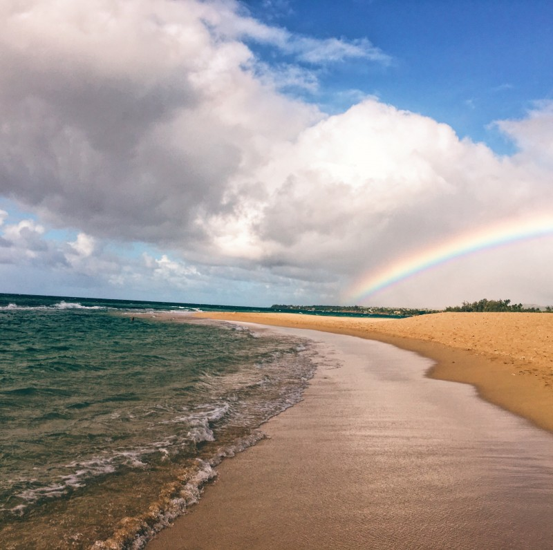 On our last day of work, we spotted this huge rainbow and took it as a symbolic 'farewell' from Maui.
