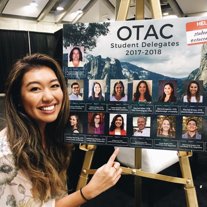 Featured as OTAC Student Delegate