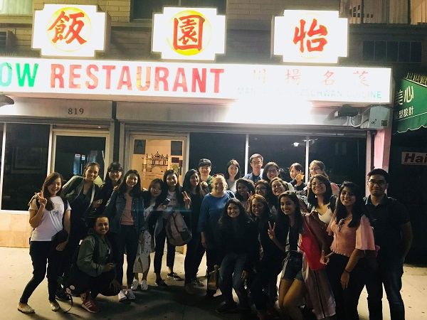We took a picture when we had dinner with Dr. Cermak in the Chinese restaurant