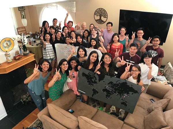 The Post-Professional students went to Dr. Blanche's house and had a BBQ party together
