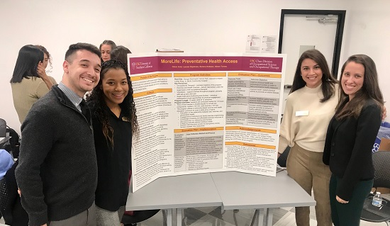 Presenting our project, MORELIFE, at the end of the semester. Working with them was a joy since we all desired to address the current health disparities in Los Angeles.