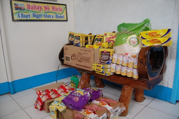Supplies donated at Bahay Ni Maria