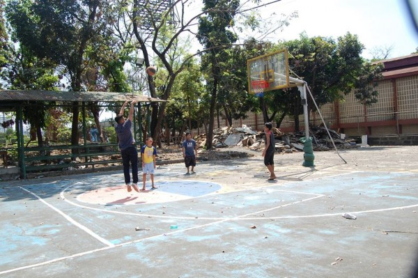 Hooping with the kiddos at Hospicio de San Jose