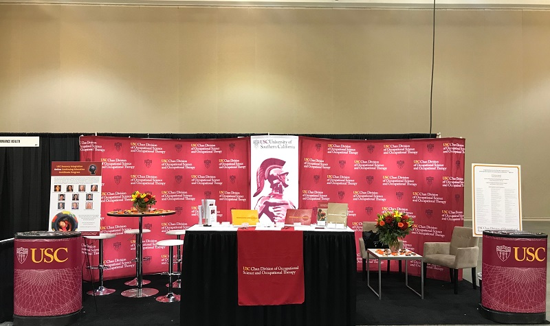 USC's booth at the Occupational Therapy Association of California (OTAC) Conference.