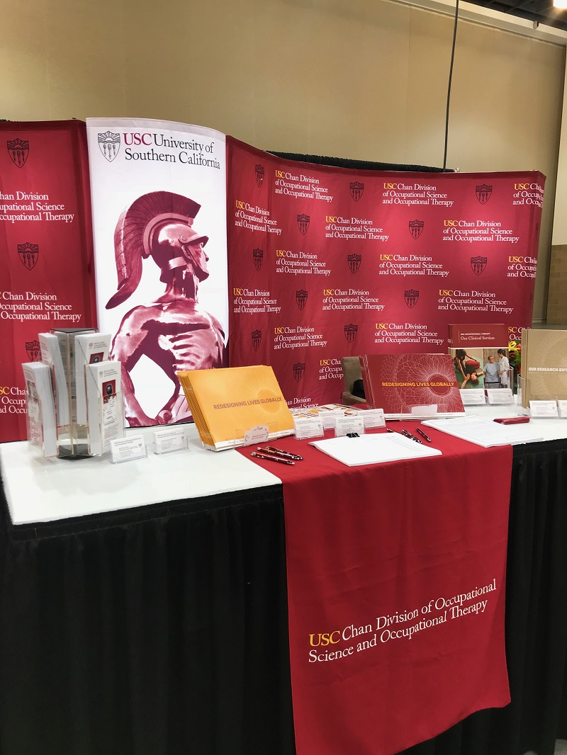 Brochures highlighting the various Occupational Therapy programs offered at USC.