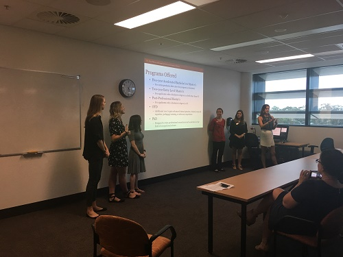 USC students presenting to Griffith students