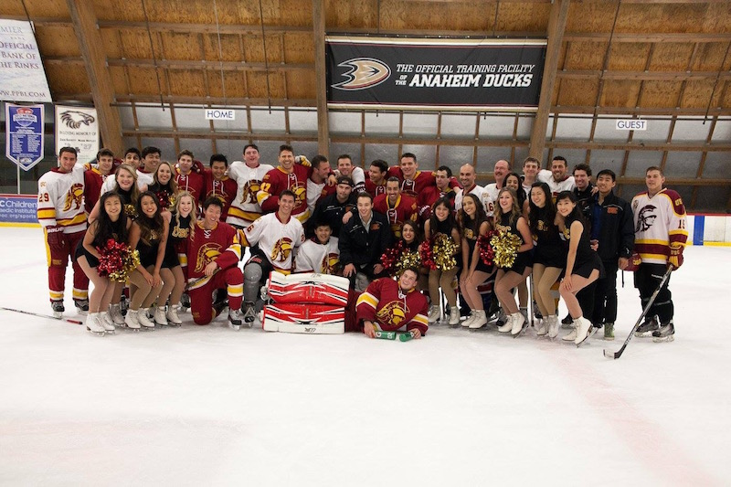 usc ice girls and hockey