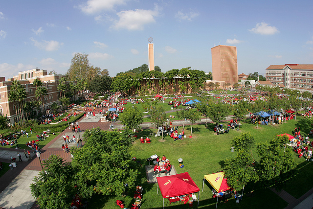 USC Students Tailgate for a Football Game