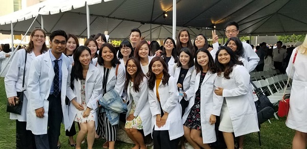 The White Coat Ceremony made us feel that we really started the Master's program