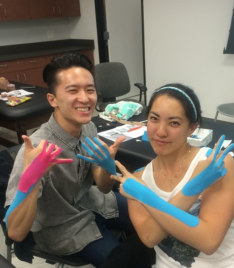 Nick and Rashelle with Kinesio Tape