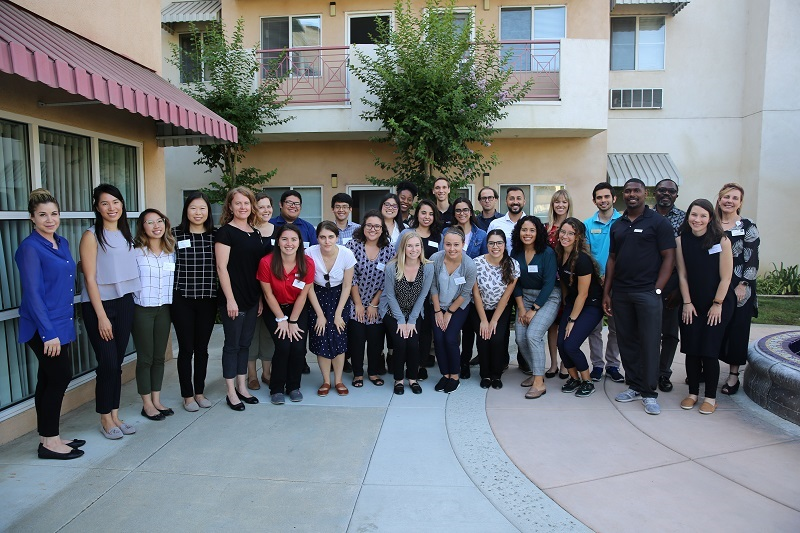 This image shows students from various disciplines outside TELACU Pointe