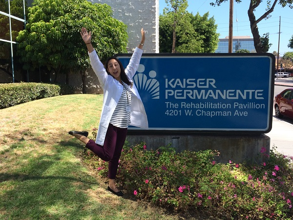 My first day at my first level 1 fieldwork at Kaiser Rehabilitation Pavilion in Orange!