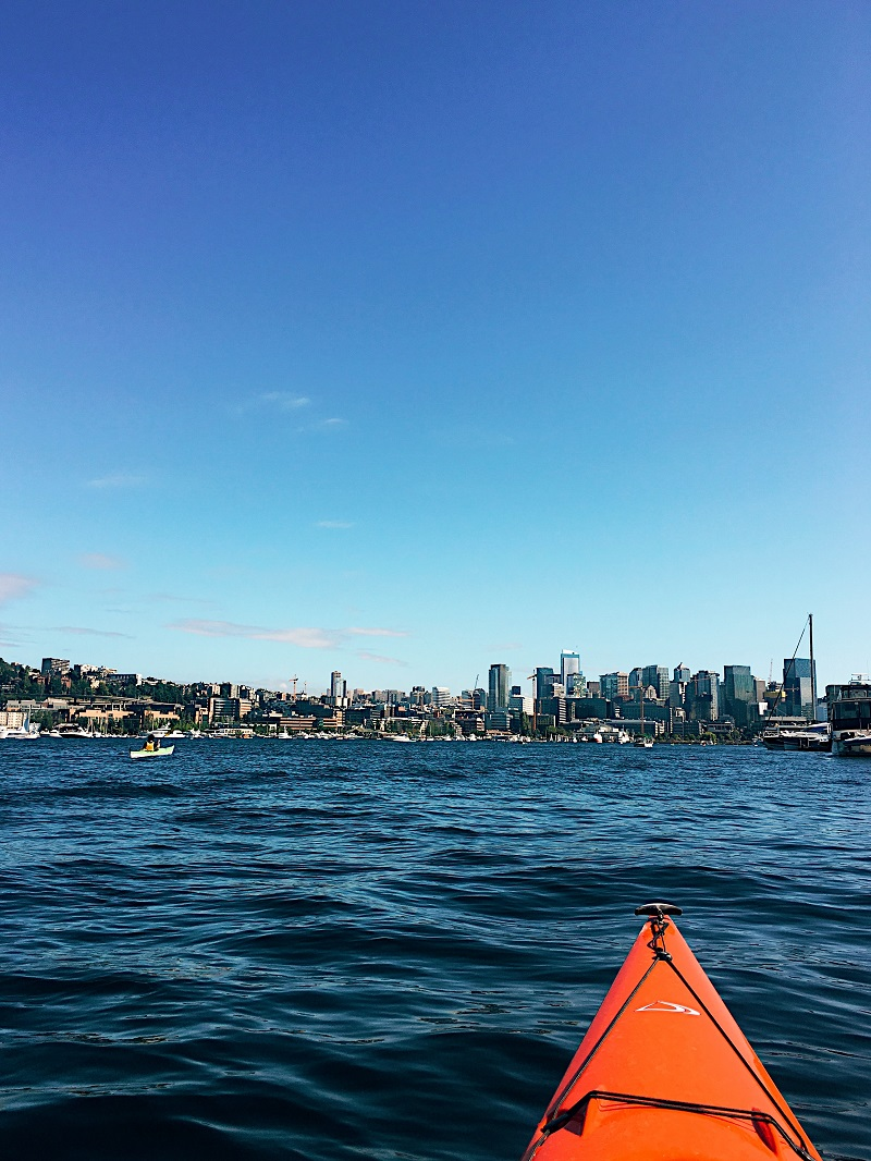 Kayaking Lake Union on Weekends