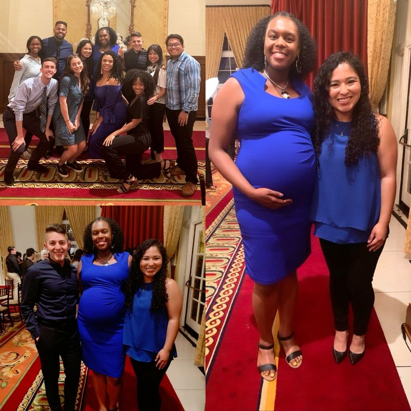End of the year banquet images with graduate family housing staff and my supervisor Jasmine King