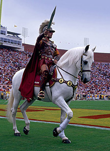 So as you watch USC Fight on and beat UCLA  take a minute during half    University Of Southern California Mascot