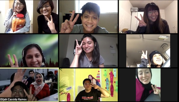 A screenshot of an online hangout by the post-professional master's students
